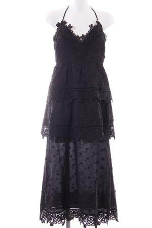 endless rose Cut-Out-Kleid schwarzbraun Blumenmuster Dekoelemente