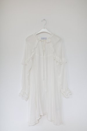 Endless Rose Kleid Asos Vintage Look Romantic weiß Rüschen Spitze Gr. S