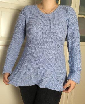 ENDPREIS: Peplum Pullover von Gina Tricot, Wollpulli, Hellblau, Größe L