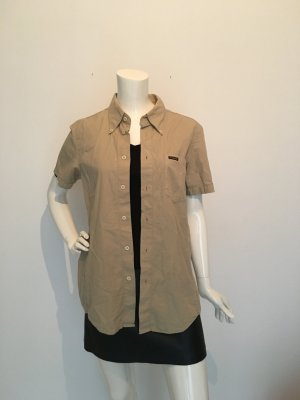 Energie Short Sleeve Shirt sand brown cotton