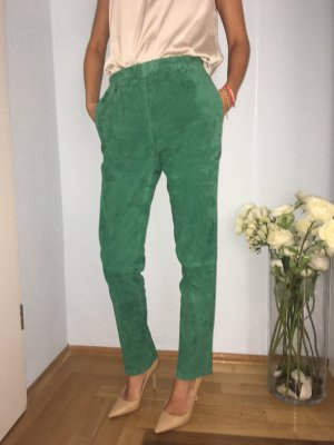 Leather Trousers forest green leather
