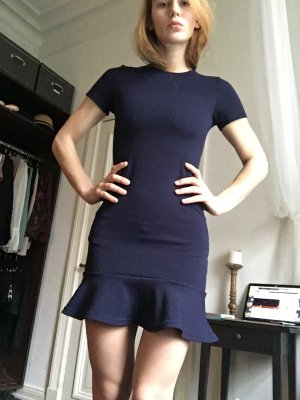 Pencil Dress blue-dark blue mixture fibre