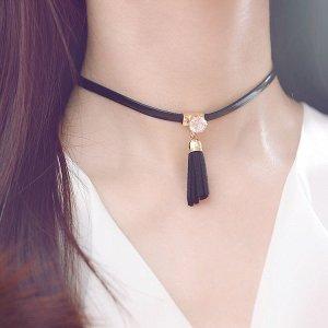 Necklace black-white