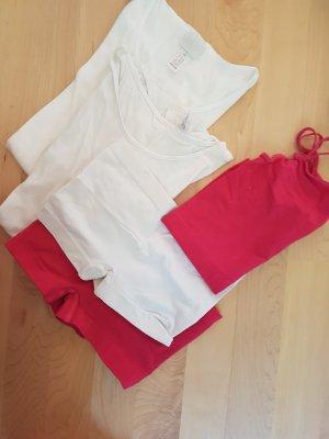 Braguita blanco-rojo frambuesa
