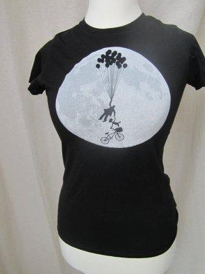 enganliegendes T-shirt mit großem Motiv