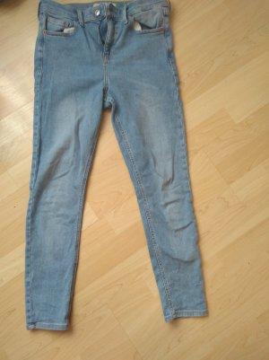 Topshop Jeans skinny bleu clair coton