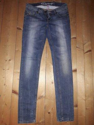 edc by Esprit Pantalone a vita bassa blu acciaio-blu scuro Fibra tessile
