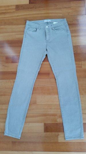 Enge Strech Jeans von H&M in Khaki