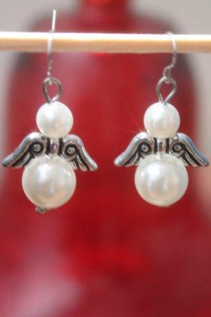 Engel * Schutzengel * süsse Ohrringe * Perlen mit Flügeln * nie getragen *