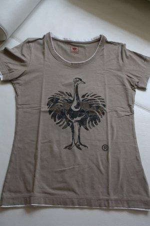 Engelbert Strauss Damen T-Shirt braun-weiss Größe S