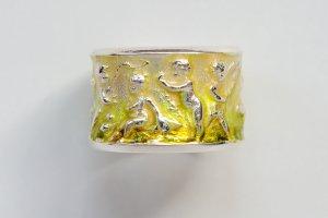Anello d'argento multicolore Argento