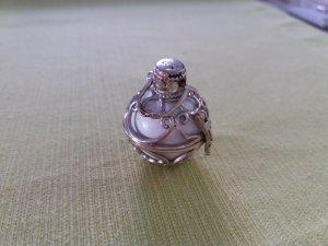 Pendant white-silver-colored real silver