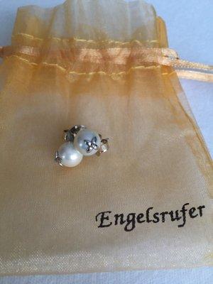 Engelsrufer Ohrhänger  Perlenblüte weiß 925 Silber