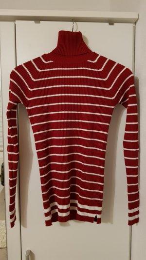 Zara Knit Twin-set trui donkerrood