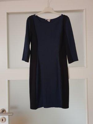 H&M Jerseyjurk zwart-donkerblauw