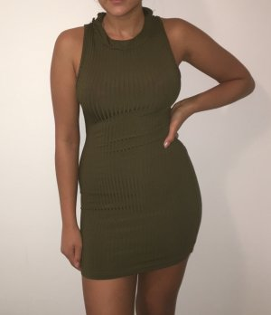 Enges Kleid in Khaki