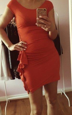 Enges Kleid in Orange