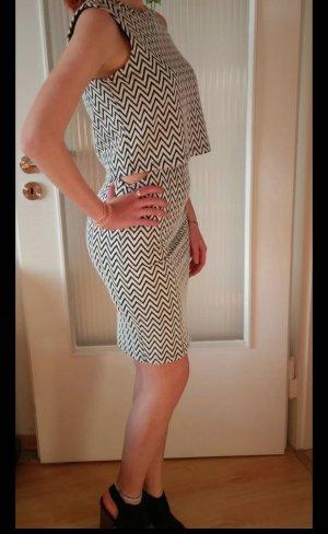 Vero Moda Vestido cut out blanco-negro