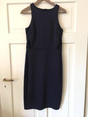 H&M Premium Cut out jurk donkerblauw