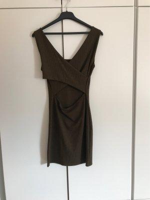 Mango Jersey Dress khaki-green grey