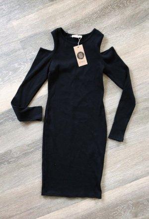 24Colours Cut Out Dress black cotton