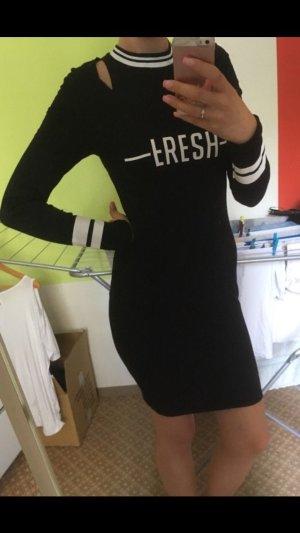 Fishbone Mini Dress black-white