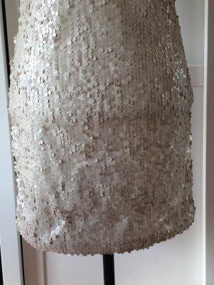enges kurzes Paillettenkleid von Vero Moda, Grösse S, champagnerfarben