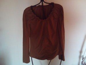 Long Shirt russet mixture fibre