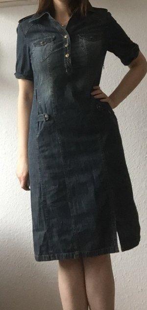 Delmod Jeansjurk korenblauw Katoen