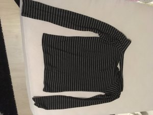 C&A Geribd shirt zwart-donkergrijs