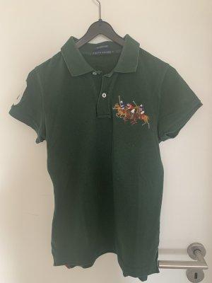 Polo Ralph Lauren Camiseta tipo polo verde bosque-blanco