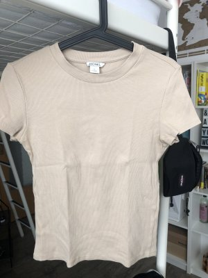 Monki Camisa acanalada marrón arena