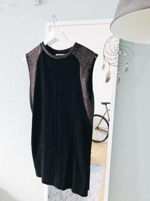 Enges Schwarzes Kleid mit Glitzer
