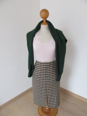 Boden Jupe en tweed rosé-vert forêt laine vierge