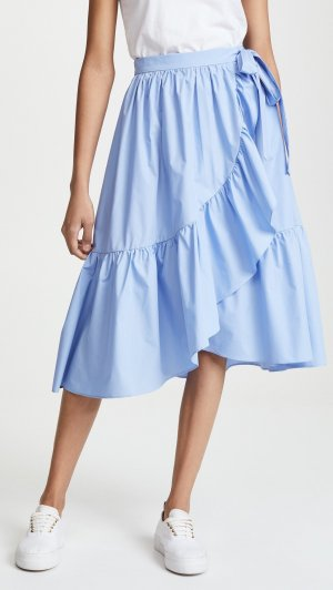 Wraparound Skirt azure