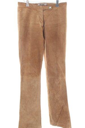 Enjoy Leren broek nude casual uitstraling