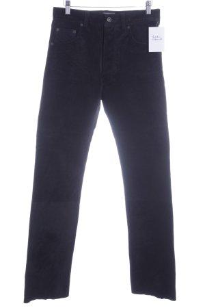 Enjoy Pantalon en cuir noir style campagnard