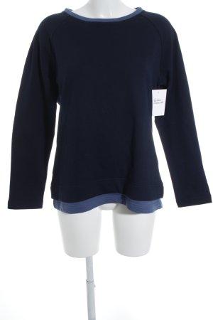 enna Rundhalspullover dunkelblau-blau schlichter Stil