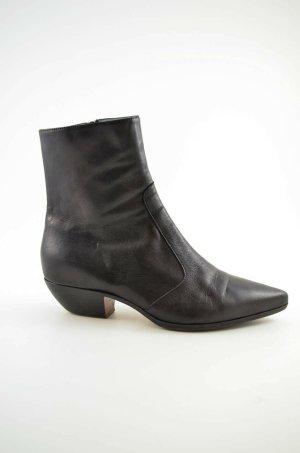 Enrico Antinori Western Booties black leather