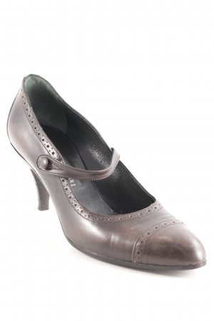 Enrico Antinori Mary Jane Pumps graubraun Business-Look