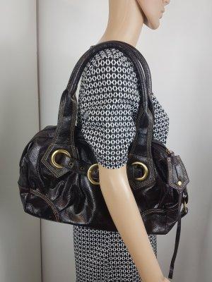 Enrico Benetti Damen Handtasche glänzend dark brown