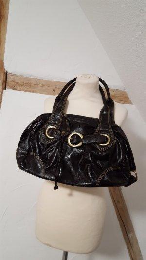 Shopper dark brown-black imitation leather