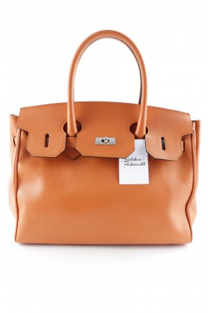 Enrico Pucci Shopper orange style d'affaires