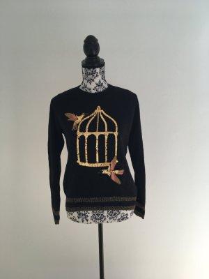 Entzückender Pullover mit Pailletten Kolibris