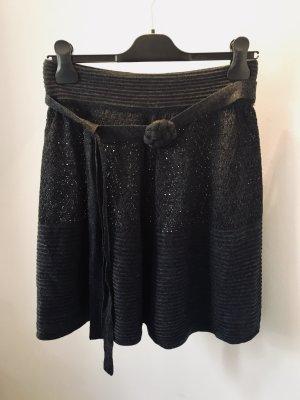 Mango Suit Jupe tricotée gris anthracite