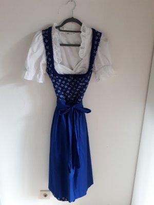 Entzückendes blaues Baumwolldirndl mit Bluse