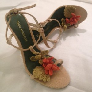 High Heel Sandal oatmeal linen