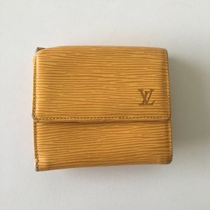 Louis Vuitton Cartera naranja dorado