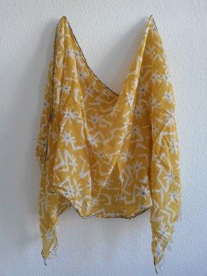 Epice Schal Tuch gelb gemustert