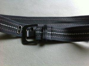 Eprit Damen Gürtel in grau mit Muster 105 cm u 5 cm breit